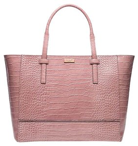 Kate Spade Leather Tote in Rose Frost