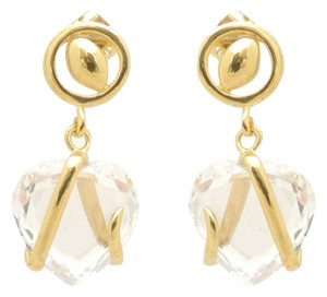 Other 18KT Gold Filled Cubic Zirconia Trapped Heart Dangle Earrings