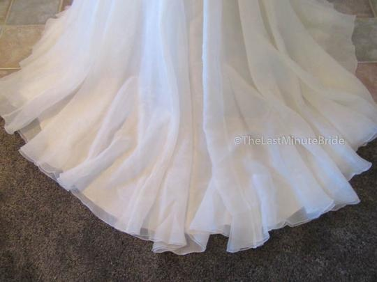 Maggie Sottero Ivory/Lt. Gold Lace & Organza Baxter 6mg800 Traditional Wedding Dress Size 10 (M) Image 4