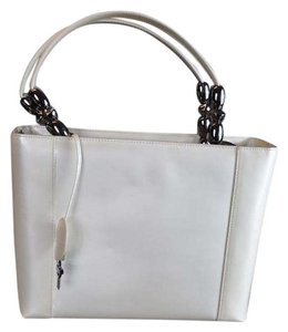 Dior Patent Leather Malice Christian Tote in Ivory