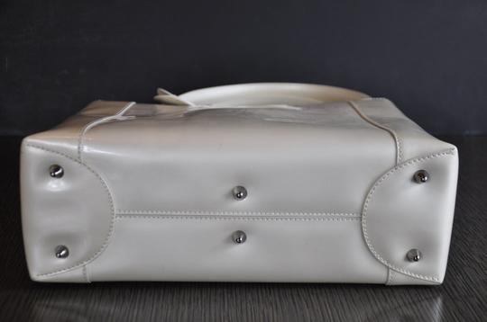 Dior Patent Leather Malice Christian Tote in Ivory Image 11