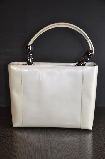 Dior Patent Leather Malice Christian Tote in Ivory Image 2