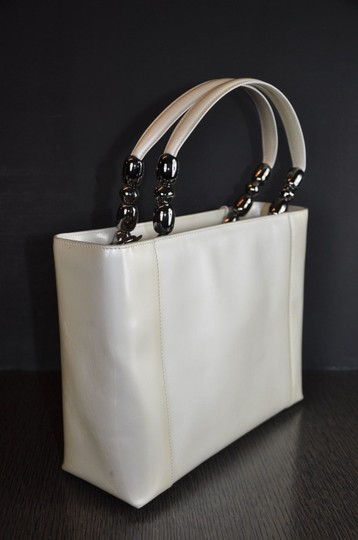 Dior Patent Leather Malice Christian Tote in Ivory Image 3