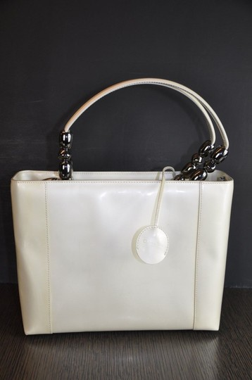 Dior Patent Leather Malice Christian Tote in Ivory Image 5