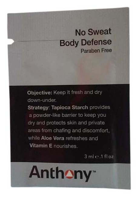 Item - Gray Black White and Red Packet No Sweat Body Defense For Men Sample