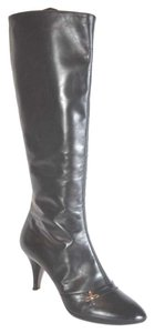 Louis Vuitton Leather Knee High Black Boots