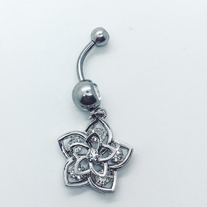 BYJQ Star belly button ring naval ring 316L