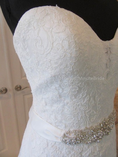 Ella Rosa Ivory Lace Be350 By Kenneth Winston Traditional Wedding Dress Size 14 (L) Image 1