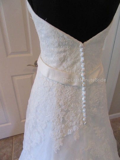 Ella Rosa Ivory Lace Be350 By Kenneth Winston Traditional Wedding Dress Size 14 (L) Image 4