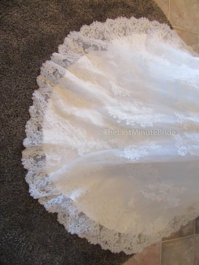 Ella Rosa Ivory Lace Be350 By Kenneth Winston Traditional Wedding Dress Size 14 (L) Image 5