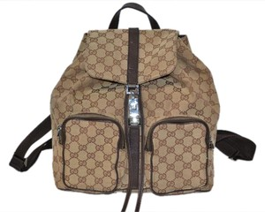 Gucci Gg Web Backpack