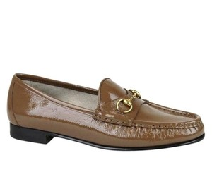 Gucci Womens 1953 Leather Horsebit Brown 2527 Flats
