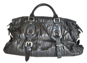 Prada Napa Leather Gaufre Messinger Satchel Cross Body Bag