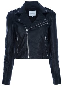 Balmain Leathet Biker Silver Zippers Pb Motorcycle Jacket