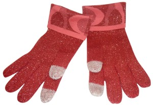 Coach Red Winter Gloves