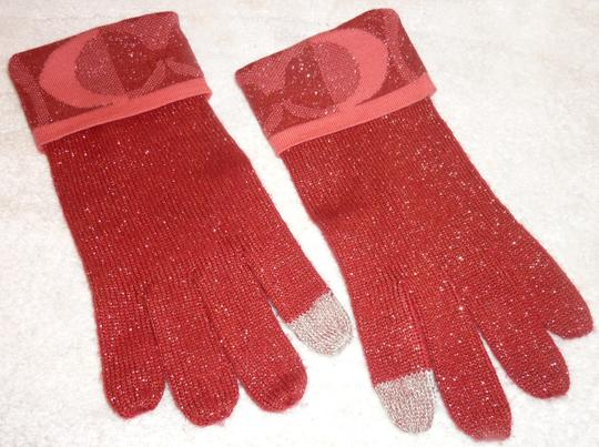 Coach Red Winter Gloves Image 1