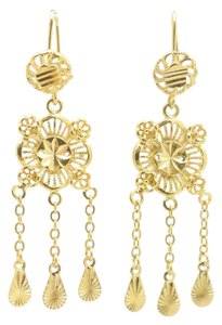 Other 18KT Gold Filled Chandelier Fringed Dangle Earrings