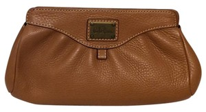 Cole Haan Tan Toffee Magnetic Camel Clutch