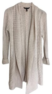 BCBGMAXAZRIA Long Chunky Cable Wool Blend Cardigan