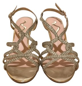 Nina Gold Wedges