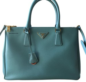 Prada Satchel in Tiffany Blue