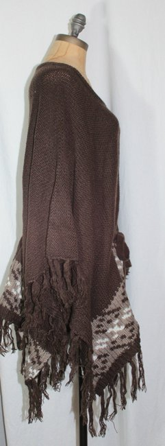 Willow & Clay Fringe Patterned Anthropologie Cape Image 2