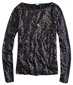 J.Crew Sequin Top Black
