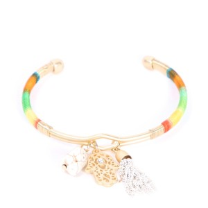 Other Lucky Hamsa Multi Charm Bracelet