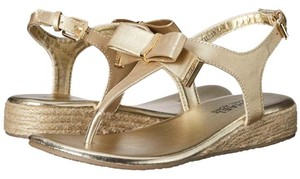 Michael Kors Bling Crystal Diamond Nikki Gold Sandals