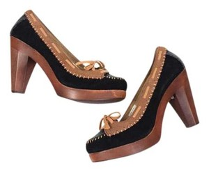 Very Volatile Color-blocked Suede Lace-up Chunky Nwob Brown Platforms
