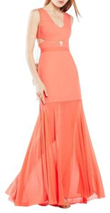 BCBGMAXAZRIA Cutout Bcbg Mermaid Sheer Dress
