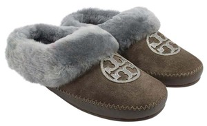 Tory Burch Shearling Elephant/Pewter/Madame Gray Flats
