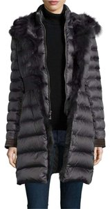 Dawn Levy Down Fill Fur Vest 2-in-1 Hooded Coat