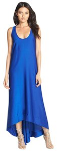 BCBGMAXAZRIA Blue Backless Cobalt High Low Strappy Dress