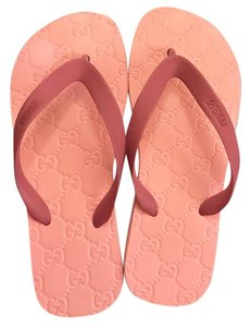 e2c5ae77c Gucci White New Women s Web Gg Flip Flops Thongs Sandals 40 270375 ...