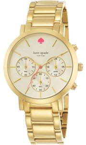 Kate Spade Gramercy Grand Chronograph Champagne Dial Gold Watch