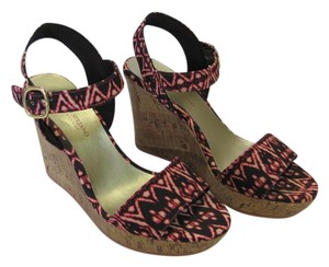 Christian Siriano Cork/Looking Very Good Condition Size 9.00 M Black, Red, Neutral Wedges