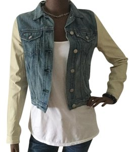 Rag & Bone Blue/Cream Womens Jean Jacket