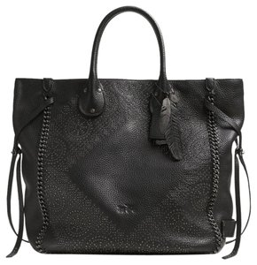 Coach Limited Edition Studded Leather Hand-lacing Details Tote in Black