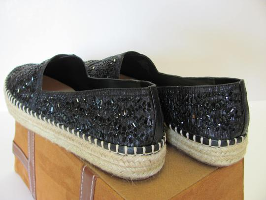 Gianni Bini With Tag Fully Beaded Size 8.50 M Excellent Condition Black, Neutral Flats Image 4