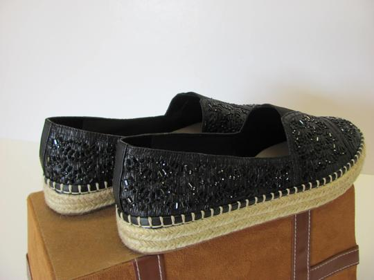 Gianni Bini With Tag Fully Beaded Size 8.50 M Excellent Condition Black, Neutral Flats Image 5