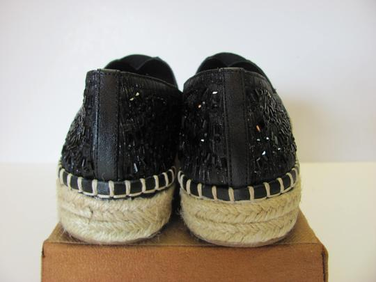 Gianni Bini With Tag Fully Beaded Size 8.50 M Excellent Condition Black, Neutral Flats Image 6