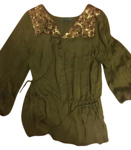 Alice + Olivia Embellished Top Green