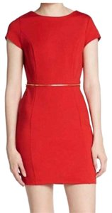 Romeo & Juliet Couture short dress Red, Gold Zipper on Tradesy