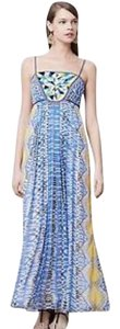 Blue/Yellow Maxi Dress by Anthropologie