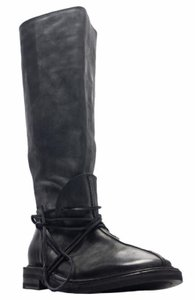 Elisanero Leather Calf Laces Edgy Black Boots
