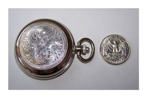 Silver Engraved Pocket Watch
