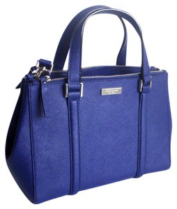 Kate Spade Saffiano Leather Satchel in French Navy