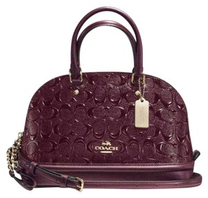 Coach F55449 Leather Sierra Satchel in Oxblood