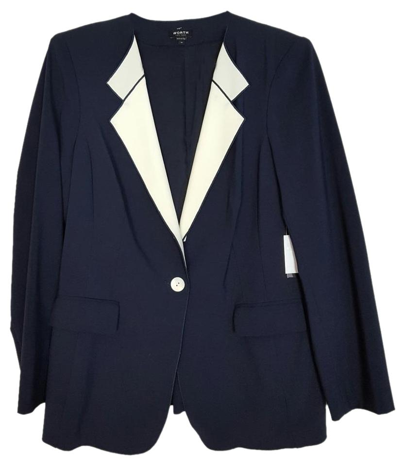Refresh your work wardrobe with versatile women's jackets and blazers at New York & Company. Always polished and professional New York style. Refresh your work wardrobe with versatile women's jackets and blazers at New York & Company. Always polished and professional New York style. 7th Avenue Navy Blue Two-Button Topstitched Jacket - All.